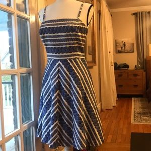 Vineyard Vines Nautical Rope Cable Print Dress A4